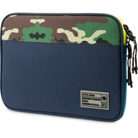 Front view of HEX Surface Go Sleeve in Camo/Blue