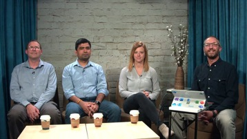 Screenshot of Mark Kashman, Anne Marie Suchanek, Abhishek Sharma, David Johnson.