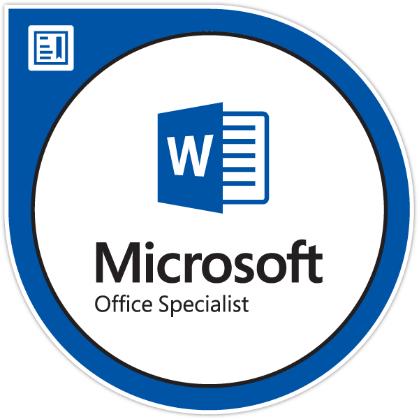 Microsoft Office Specialist Word Associate Word And Word 2019
