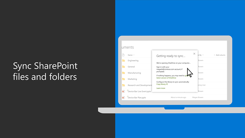 Sync your SharePoint files