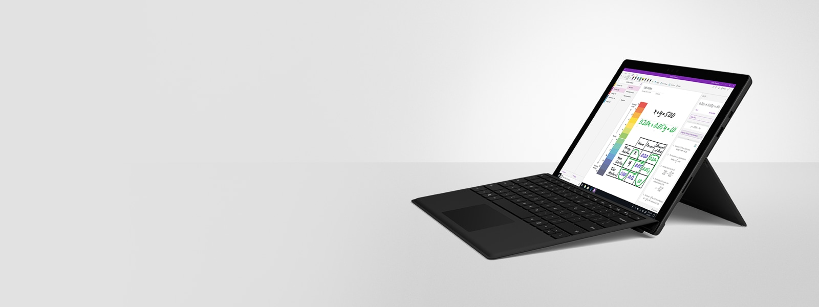 A Surface Pro 6 with Type Cover