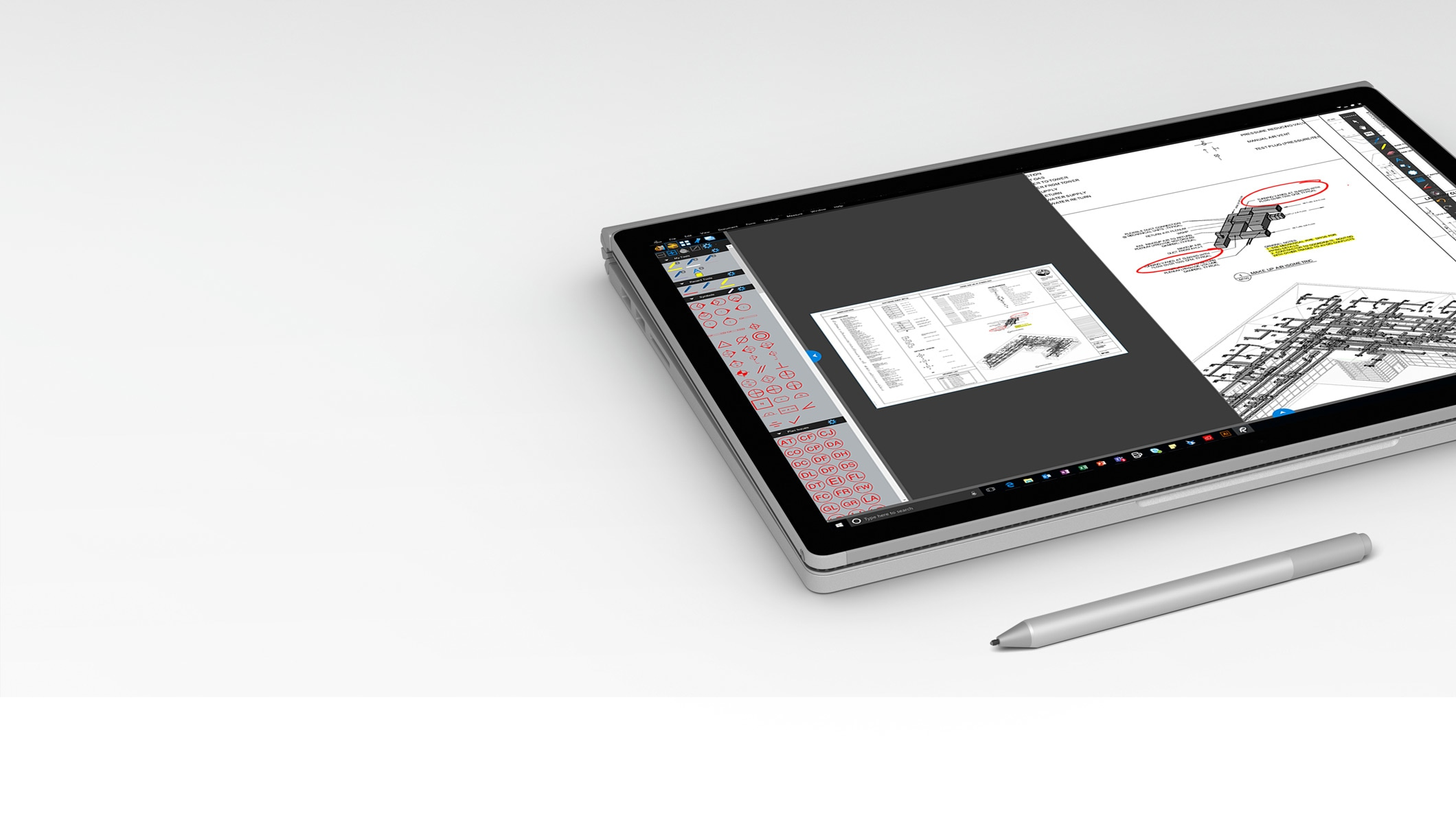 Surface Book 2 in Studio Mode