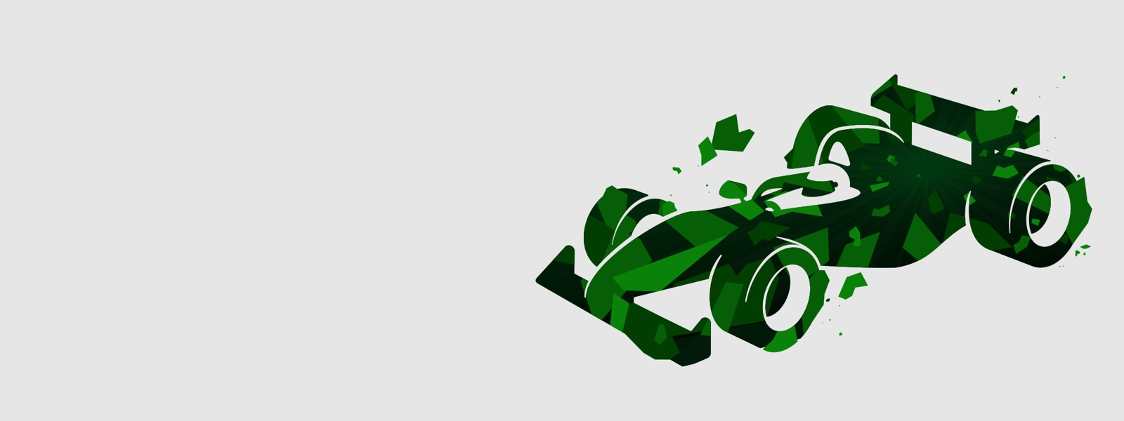 A green race car vector illustration