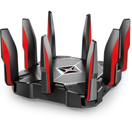TP-Link AC5400 Tri-Band Wireless Gigabit Router front top angle view