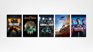 Call of Duty: Black Ops 4, Sea of Thieves, Rainbow Six Siege, Forza Horizon 4, FIFA19