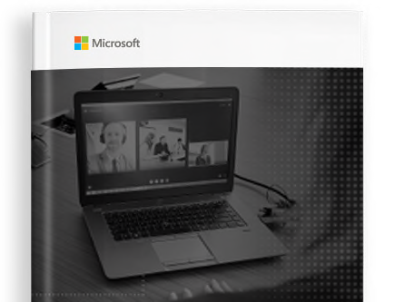 E-book cover with the Microsoft logo and a photograph of a laptop