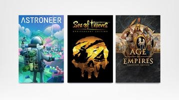 Astroneer + Sea of Thieves + Age of Empires
