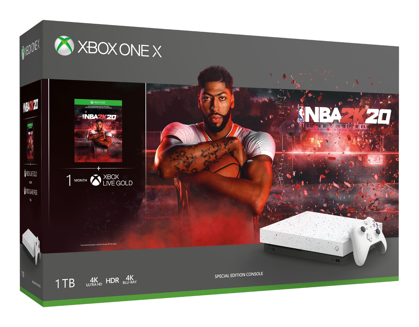 Xbox One X NBA 2K20 Special Edition bundle box art