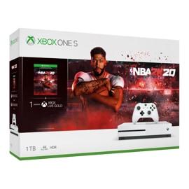 Konsola Xbox One S w zestawie z grą NBA 2K20 — grafika z pudełka