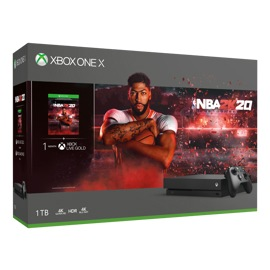 Xbox One X NBA 2K20 bundle  box art