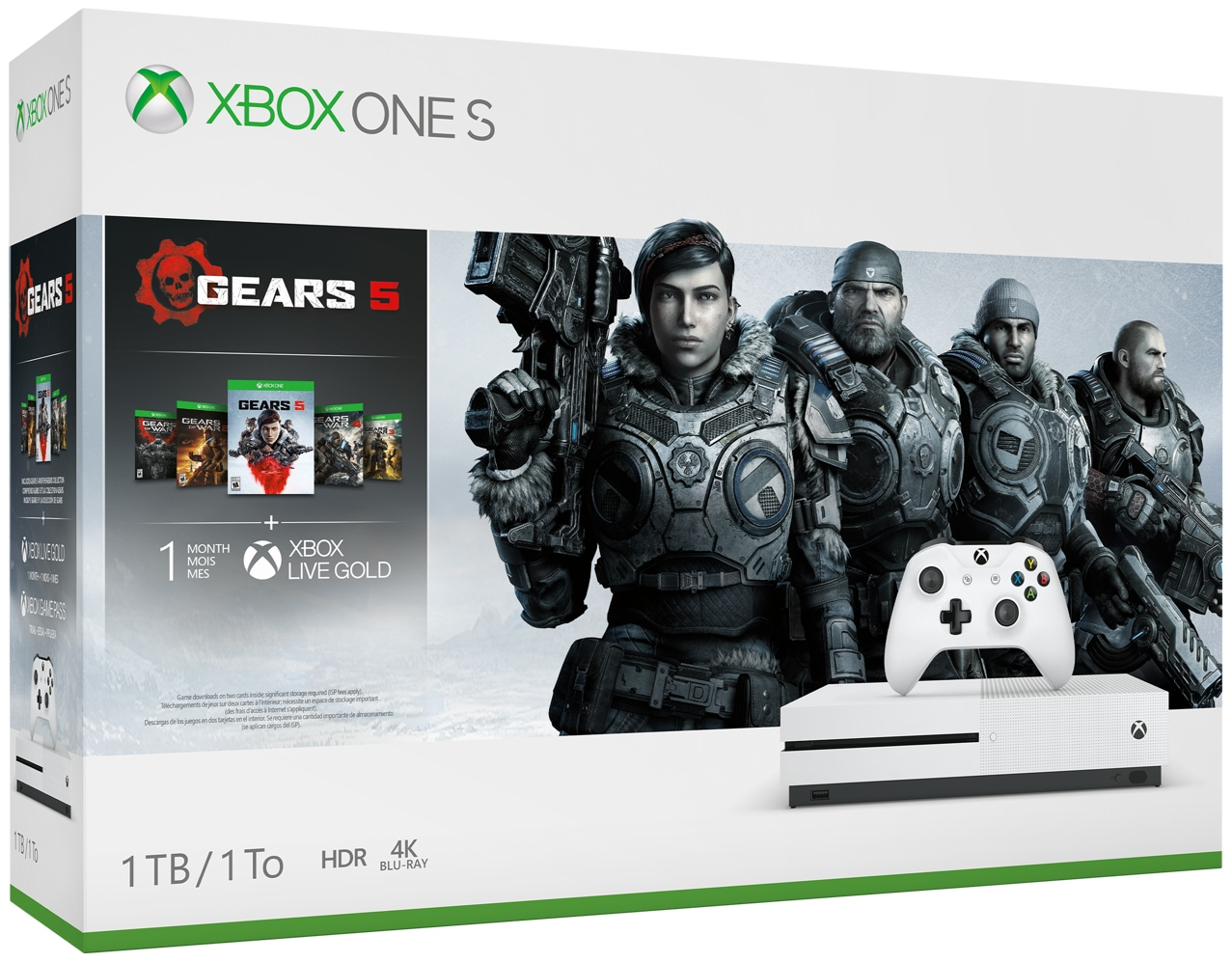 Xbox One S Gears 5 bundle box art