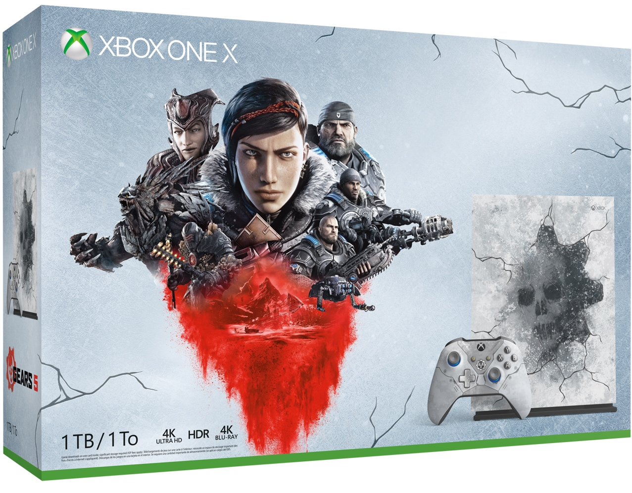 Xbox One X Gears 5 Limited Edition bundle box art