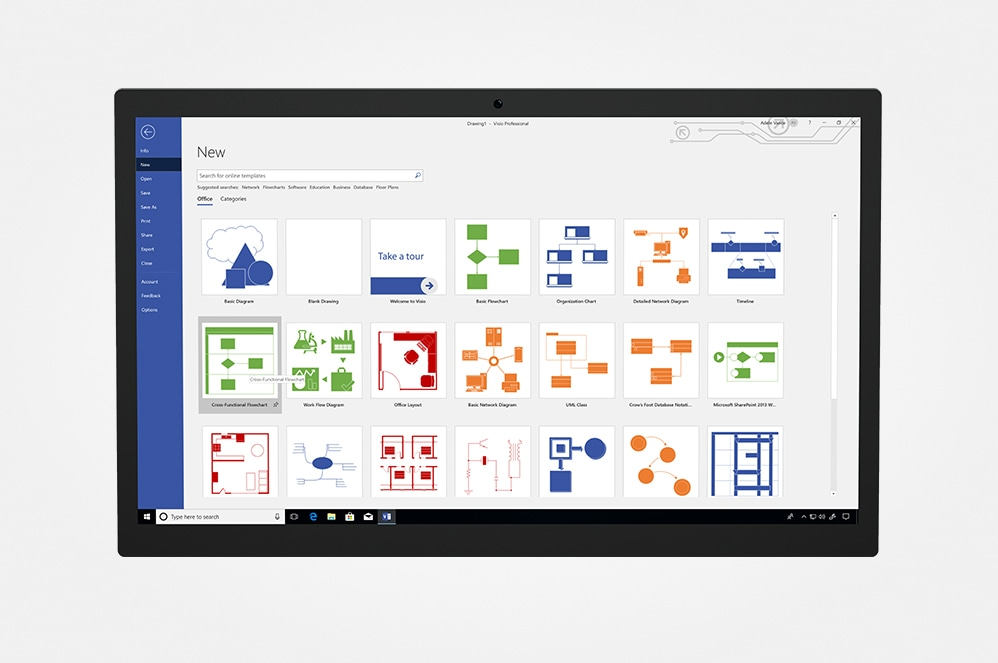 Device with Visio screenfill