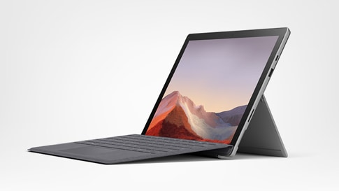 Surface Pro 7 for Business, Laptop-Modus mit Type Cover