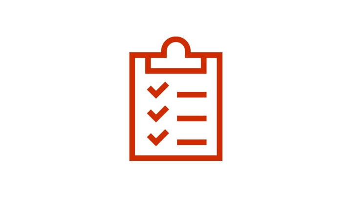 Clipboard icon with ticked list