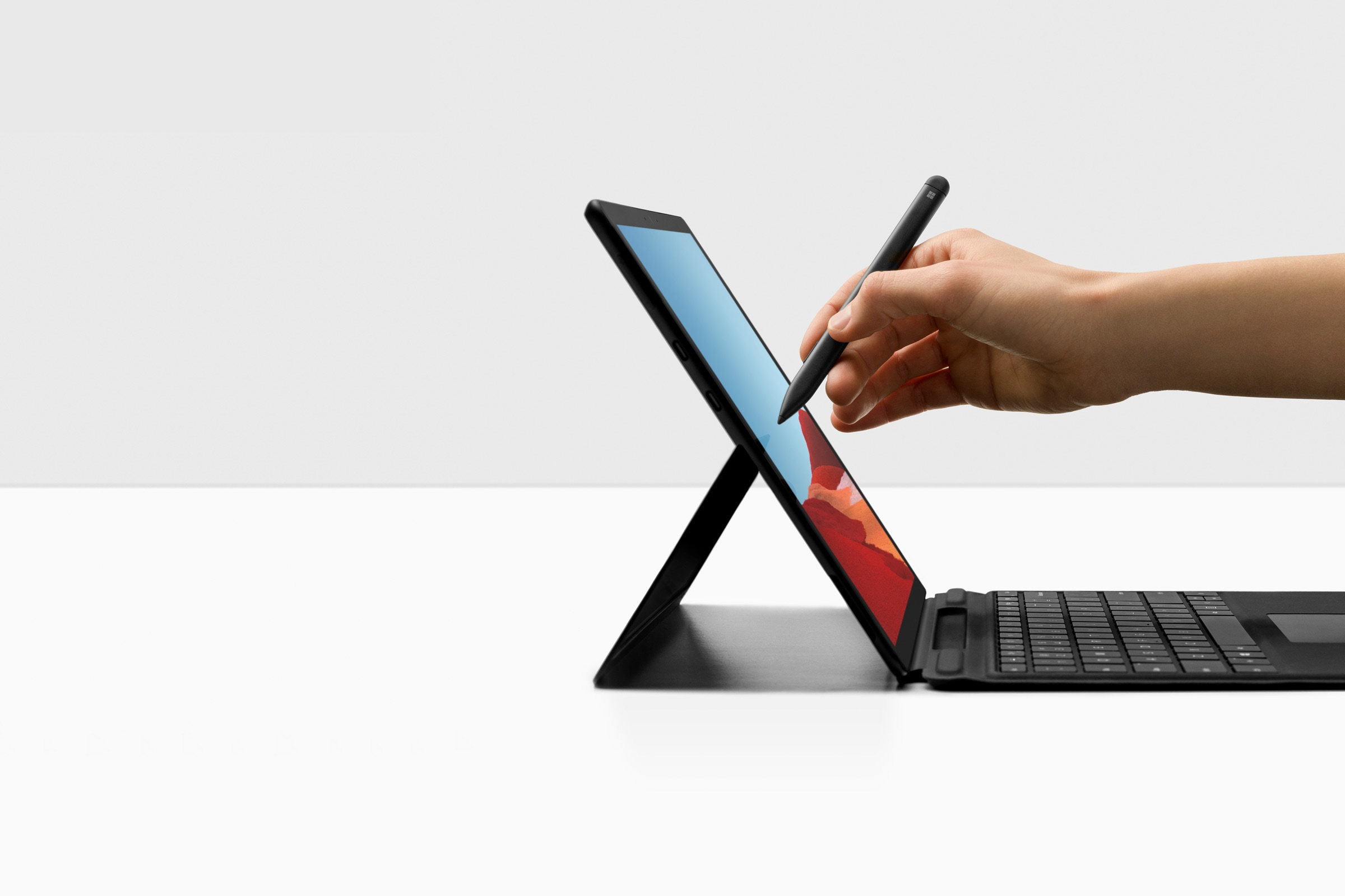 Surface Pro X with Surface Pro X Signature keyboard and Surface Slim Pen