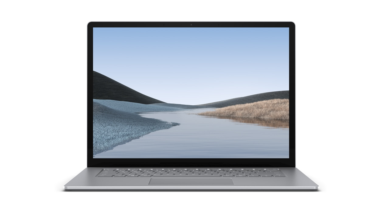Front view of screen and keyboard Surface Laptop 3