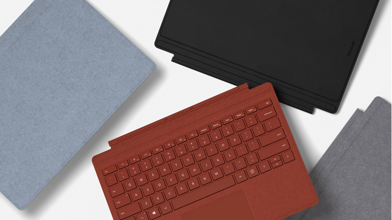 Clavier Type Cover Microsoft Surface Rouge Coquelicot pour