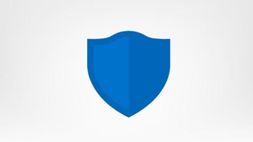 Blue security shield logo