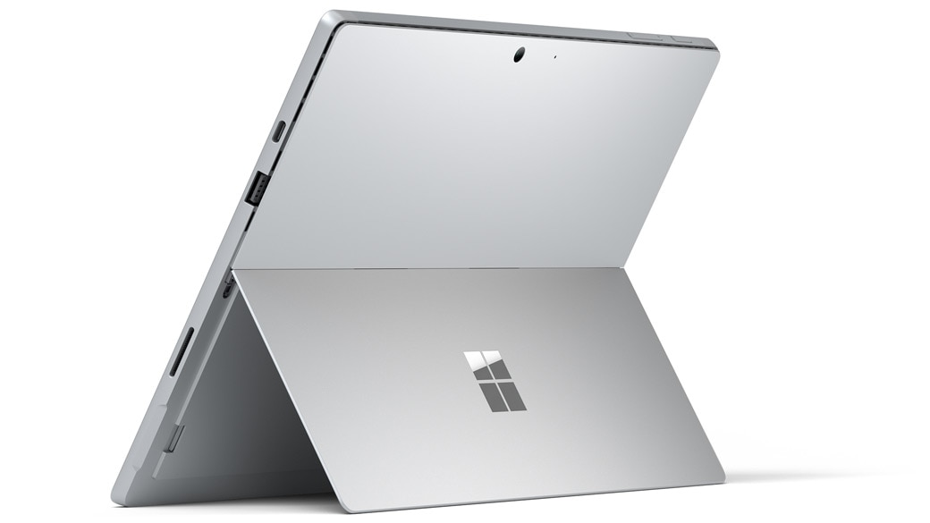 Surface Pro 7 with the Kickstand open