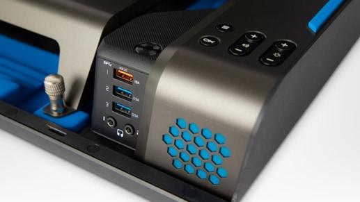Close up of Gaems Guardian Pro XP speaker
