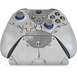 Front view of Controller Gear Gears 5 Armor Special Edition - Xbox Pro Charging Stand with controller on top