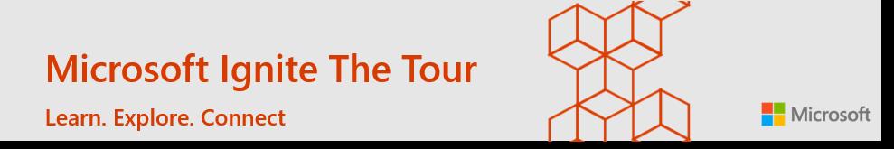 Microsoft Ignite tour banner