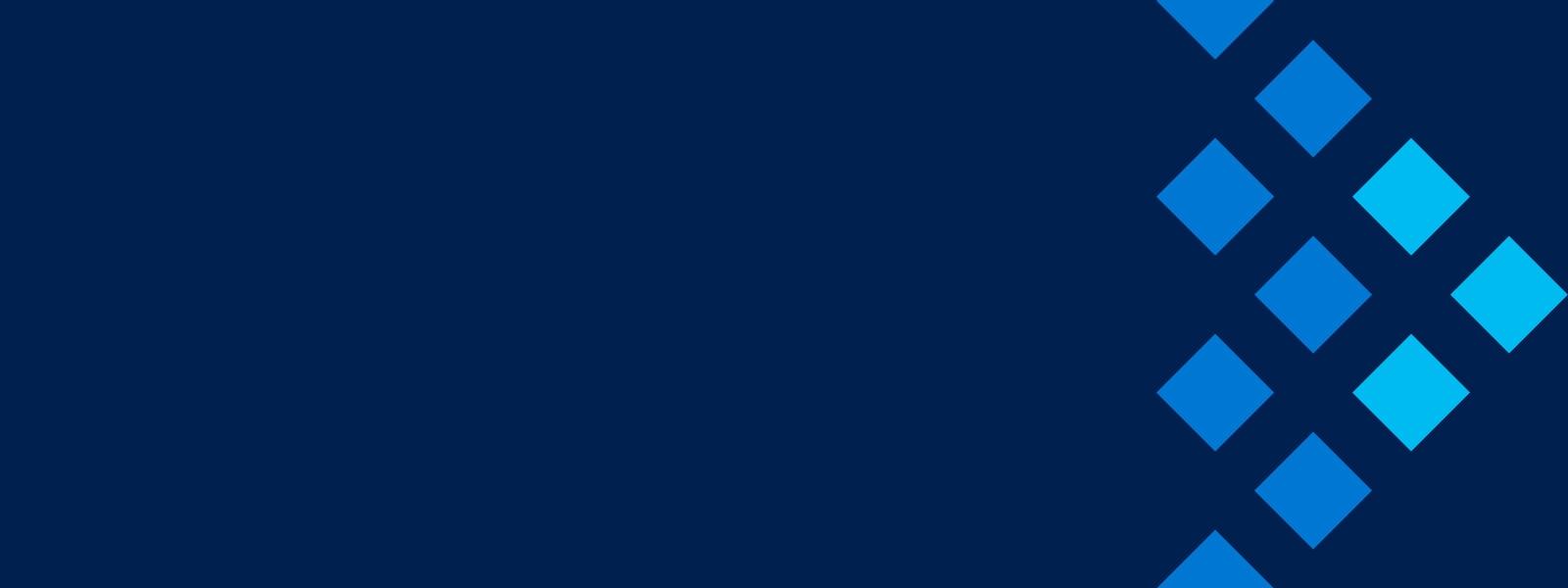 Blauer Hintergrund mit einem Pfeil nach rechts.