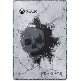 Front view of Seagate 2 TB Game Drive for Xbox (Gears 5 Special Edition)