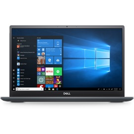 Dell Vostro Laptop from the front with Windows on screen