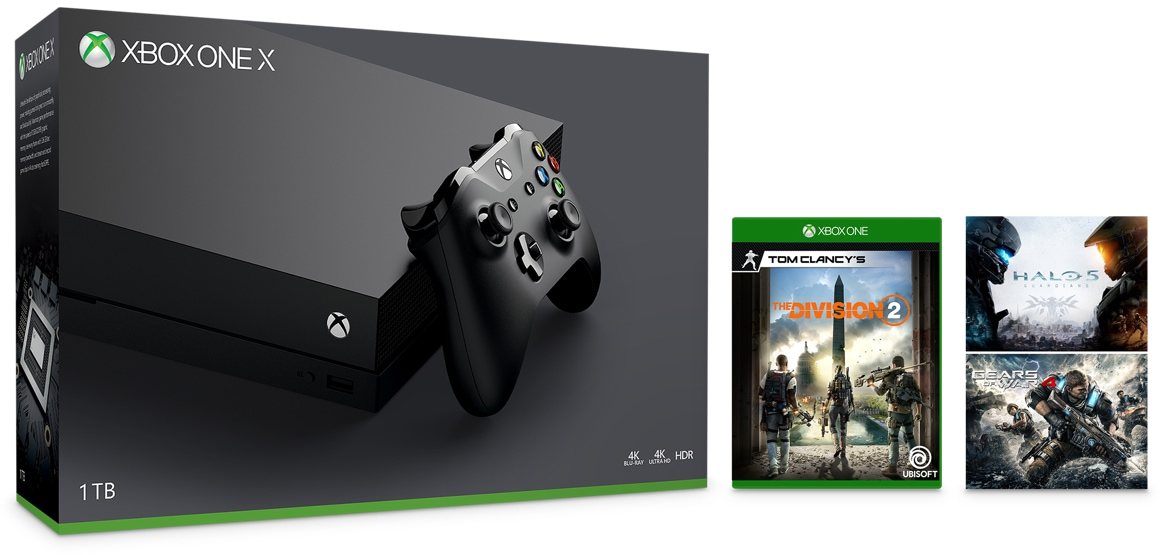 Xbox One X Console (1TB) - Tom Clancy's The Division 2 Bundle