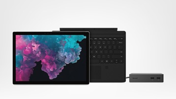 Surface Pro 6 for Business with Type Cover and Surface Dock