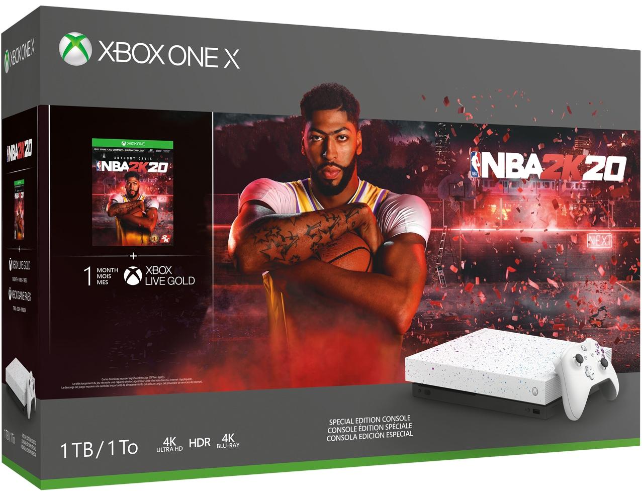 Xbox One X NBA 2K20 Special Edition Bundle box art