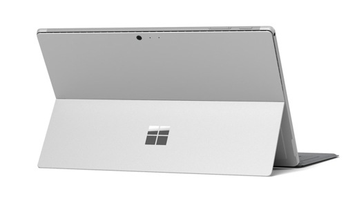 Surface Pro with the adjustable Kickstand as seen from behind