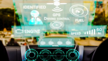 artificial intelligence overlay on automotive dashboard