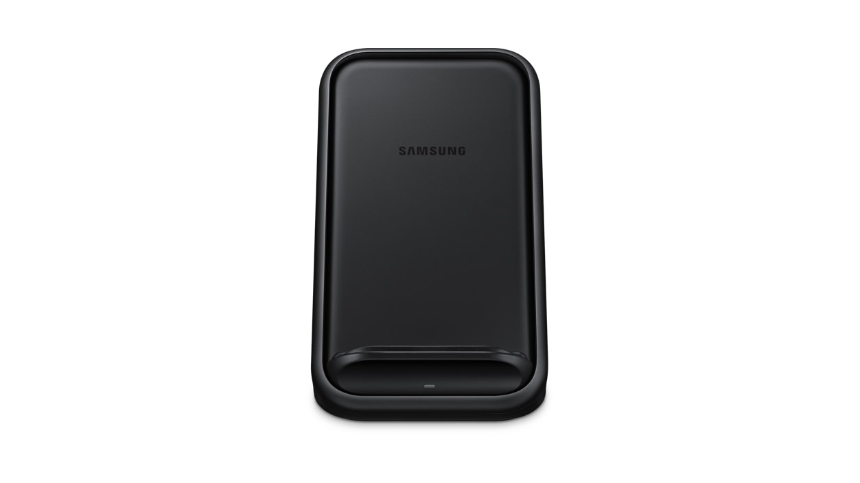 Front view of Samsung Wireless Charger Stand 15W 2.0 (Black)