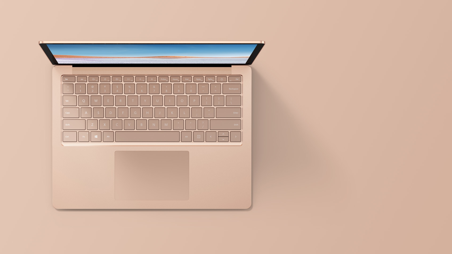 "13.5"" Surface Laptop 3  in Sandstone with a metal finish"