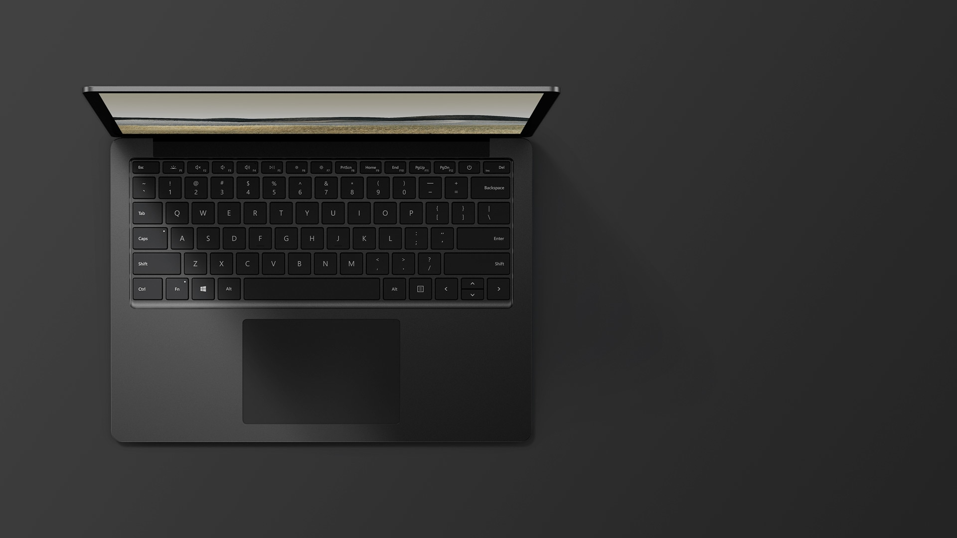 13,5-tuumainen mattamusta Surface Laptop 3, jossa on metallipinta