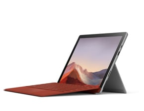 återgivning av Surface Pro 7 med Type Cover