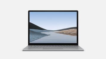 Platinum Surface Laptop 3 showing screen and keyboard
