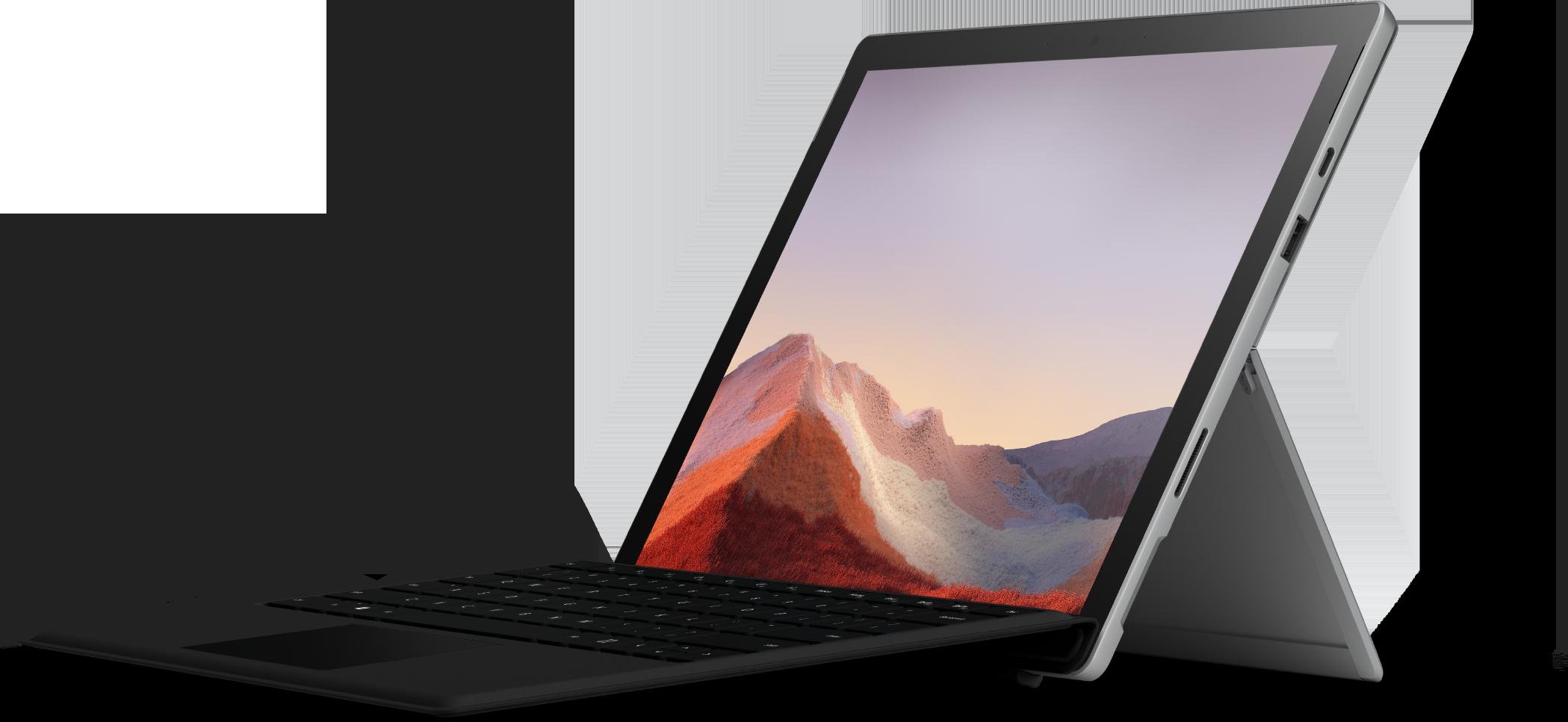 Black Surface Pro 7 + Black Pro Type Cover Bundle (10th Gen Intel Core i7)