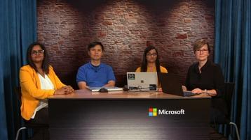 Sheri Bettine, Data and AI Evangelist; Garima Gaurav, Program Manager II; Alexander Oh, Sr. Software Engineer; Shweta Mallurwar, Software Engineer II