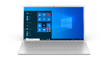 A Windows 10 Pro screen on a laptop device