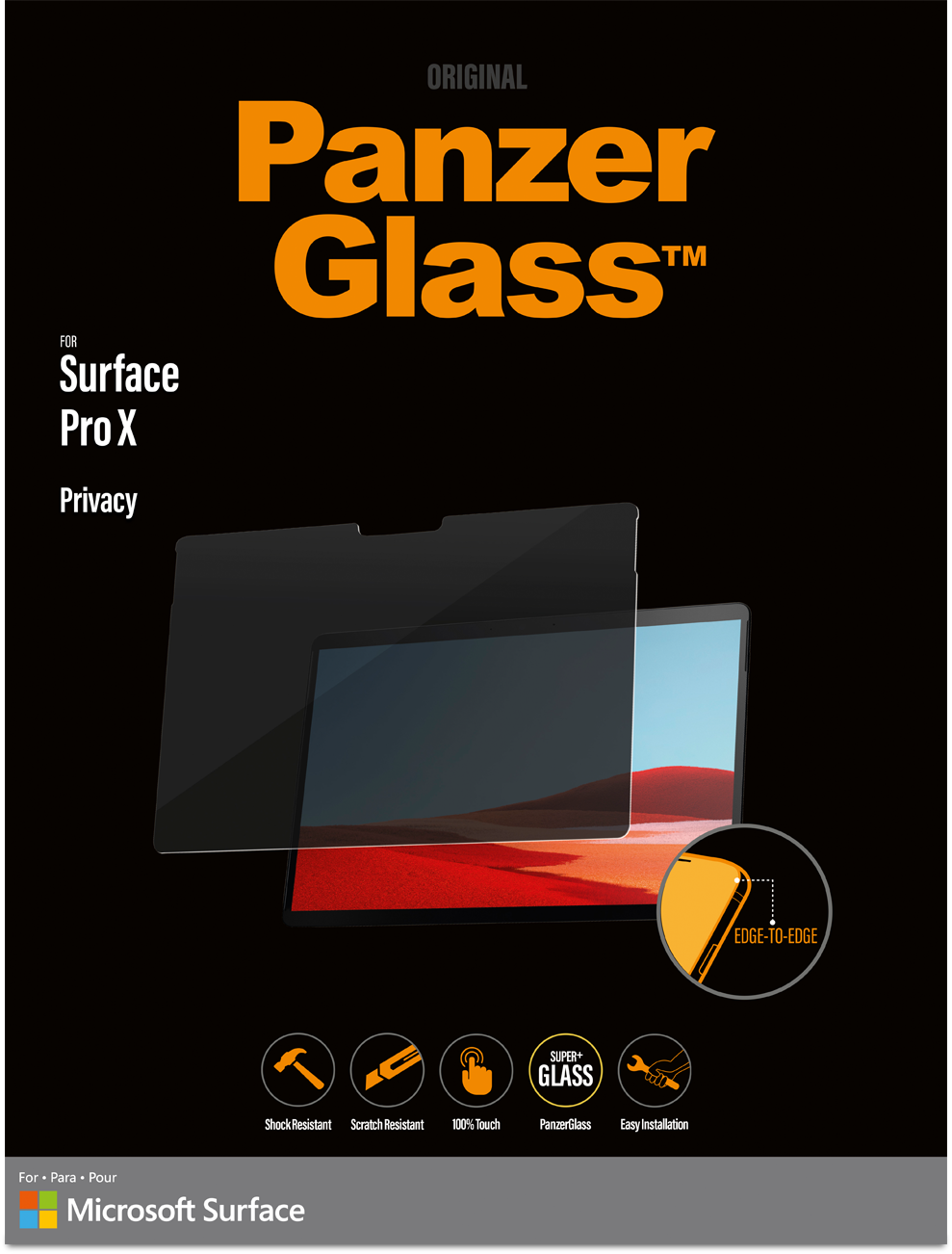 PanzerGlass Privacy Screen for Surface Pro X