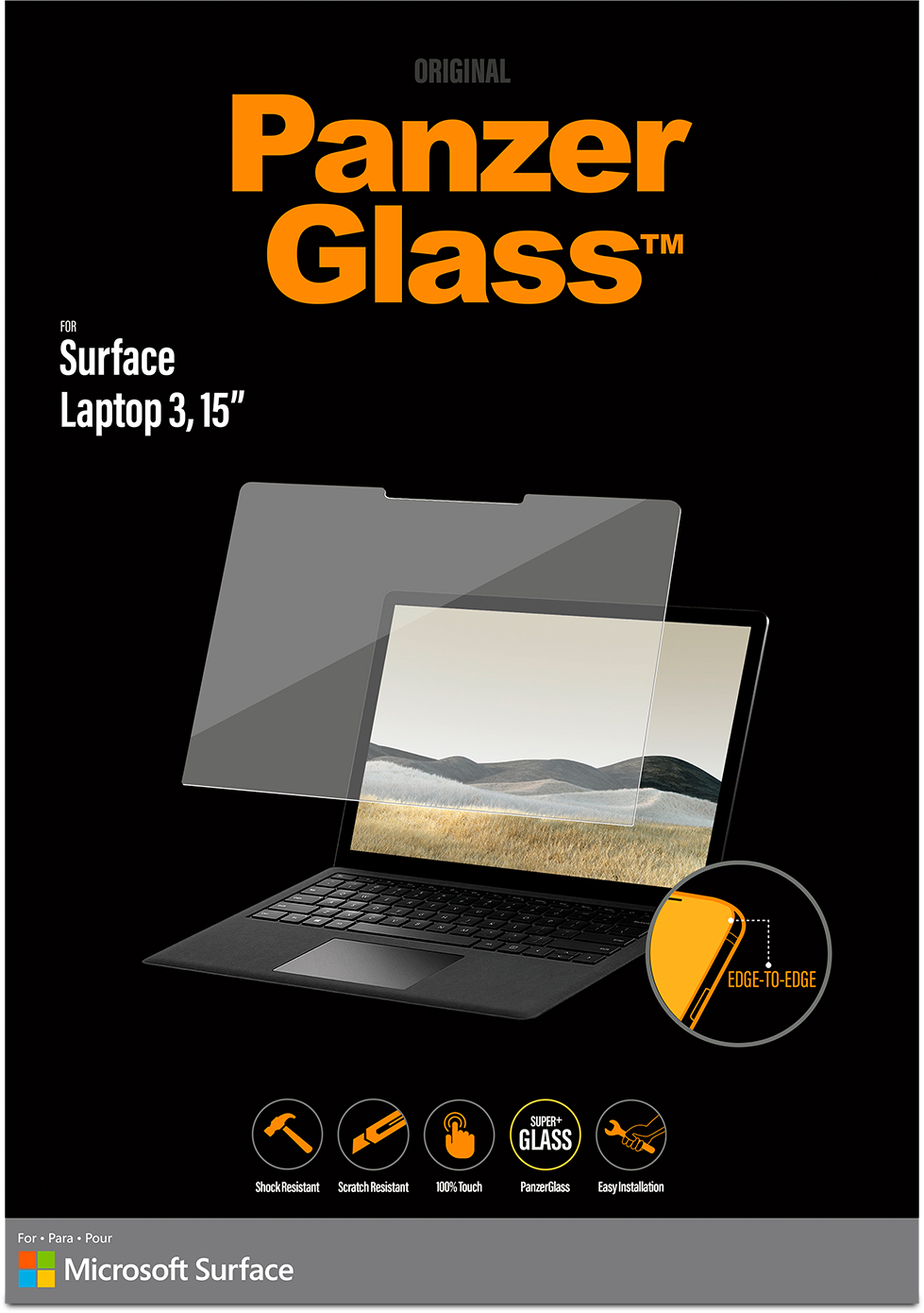"PanzerGlass 15"" Screen Protector for Surface Laptop 3"