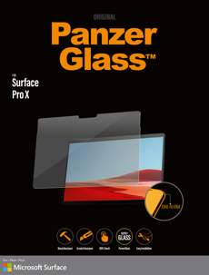PanzerGlass Screen Protector for Surface Pro X
