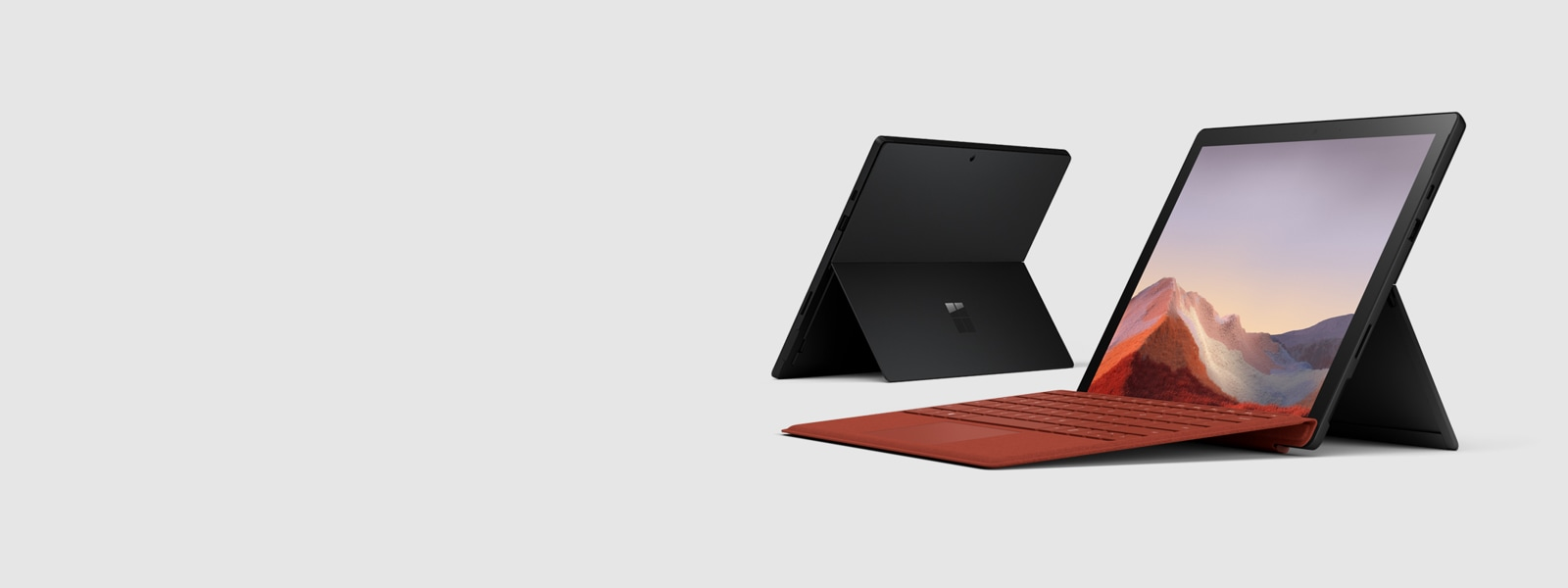 Two Surface Pro 7 devices