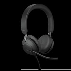 Un casque d'écoute Jabra Evolve2 40 certifié MicrosoftTeams.