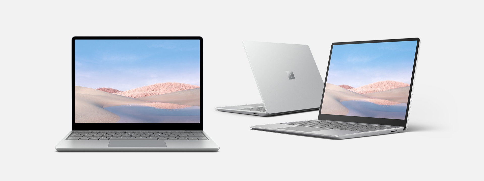 En serie Surface Laptop Go med appar
