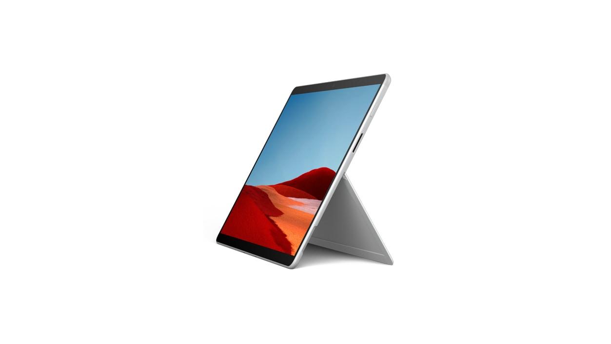 Surface Pro X in platinum
